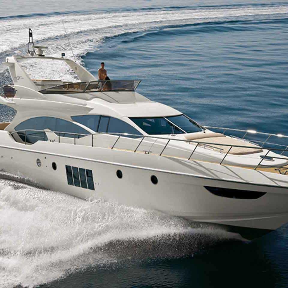 Azimut 68 Motor Cruiser Charter Latchi Charters Cyprus