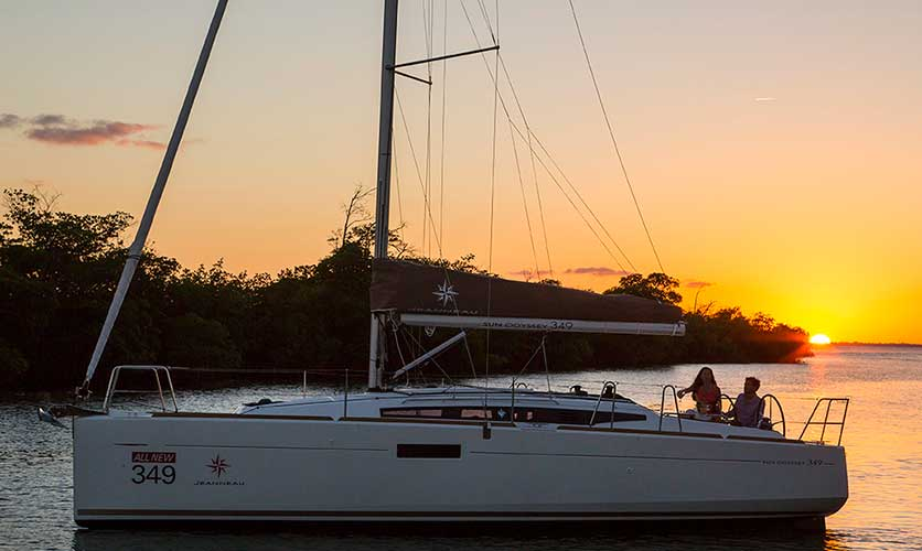 Jeanneau Sun Odyssey 349 Sunset, Sailing Yacht Charters in Cyprus with Latchi Charters Cyprus